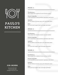 menu templates canva