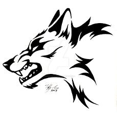 snarling wolf by captainmorwen on deviantart
