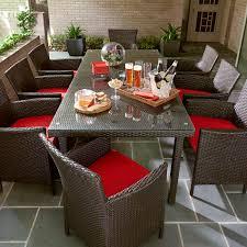Red Patio Dining Sets - grand resort osborn 9 piece rectangular dining set featuring