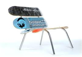 skateboard chairs skateboard chairs skateboard chair for sale skateboard deck chair