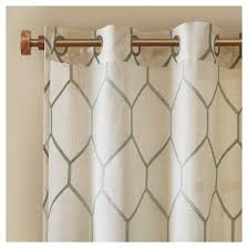 peyton metallic geo embroidered window curtain panel target