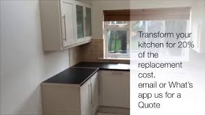 how much does it cost to respray kitchen cabinets kitchen respray before and after youtube