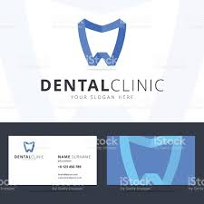 business card template for dental clinic stock vector art