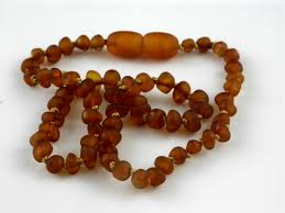 baby bead necklace images Raw amber beads baby teething necklaces jpg