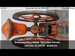 Enterprise Coffee Grinder Enterprise Floor Model 716 Coffee Grinder Youtube