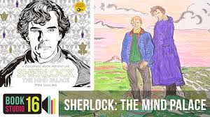 sherlock the mind palace by mike collins a coloring book
