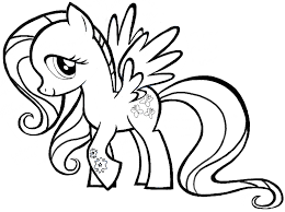 coloring surprising simple pony drawing draw 5 1 coloring