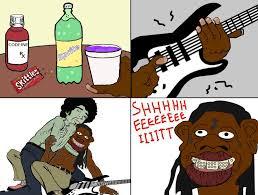 Sheeeeiiiit Meme - the ghost of jimi hendrix saves the world from lil gay ne