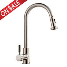 pull kitchen faucets stainless steel comllen best commercial single handle pull out sprayer stainless
