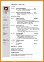 pdf resume template 5 sle of cv for application pdf edu techation