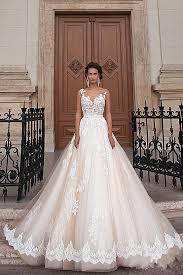 stunning wedding dresses 2018 a line light chagne wedding dresses lace sheer tulle