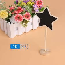 bridal bouquet holder table clip 10pcs lot star mini blackboard chalkboard wordpad message board