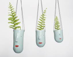 potheads fun and quirky ceramic planters by rotterdam illustrator