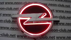 opel logo 5d emblem with light opel led car badge logo sticker red youtube