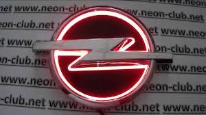 opel logo 5d emblem with light opel led car badge logo sticker red youtube