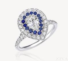 pear shaped ring halo pear shaped ring with sapphire accent