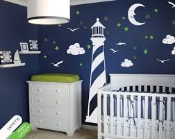 Vinyl Wall Decals For Nursery Nautical Wall Decal Lighthouse Moon Nursery Mural Sticker