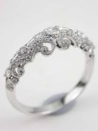 vintage wedding bands for diamond wedding ring with swirling design rg 3479t beautiful