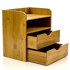 Desk Organizer Drawers Intriom Bamboo 4 Tier Mini Desk Organizer Storage With
