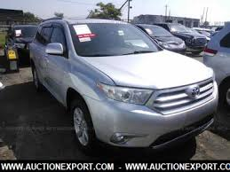 toyota highlander used 2012 used 2012 toyota highlander base car for sale in auctionexport