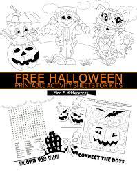 free halloween printable activity sheets for kids halloween