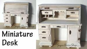 Small Roll Top Desks by Miniature Furniture Roll Top Desk Tutorial Bonus Video Youtube