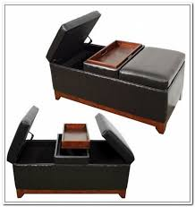 leather ottoman with storage and tray storage decorations