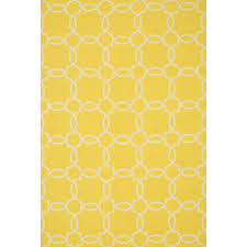 Yellow Outdoor Rug Shop Ventura Simple Trellis Yellow Ivory Outdoor Rug 7ft 6in X