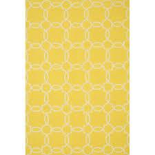 shop ventura simple trellis yellow ivory outdoor rug 7ft 6in x
