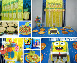 spongebob party ideas make a sign for front door bottom and above the table