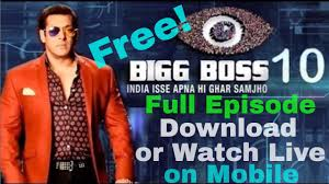 download or watch live biggboss 10 latest episode and brand new