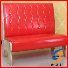 boutique modern red leather lazy tea restaurant sofa pizza hut