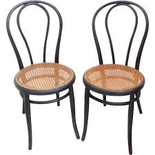 chaises thonet pair of chairs n 18 in blackened wood michael thonet 1960s