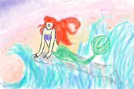 ariel mermaid fan art speedpaint drawing