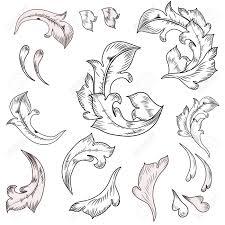 17009665 baroque design elements stock vector baroque engraving