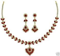 earring necklace ruby images Excellent ruby marquee necklace with earrings gleam jewels jpg