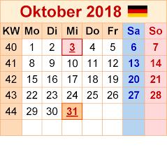 Kalender 2018 Hamburg Zum Ausdrucken Kalender Oktober 2018 Zum Ausdrucken Pdf Excel Word Kalender