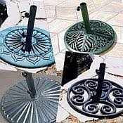 Patio Umbrella And Base Stands And Bases For Market And Patio Umbrellas