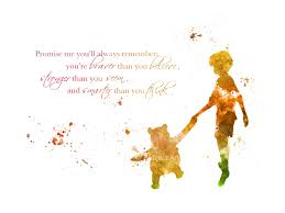 Winnie The Pooh Home Decor by Art Print Winnie The Pooh Quote Illustration Disney Home