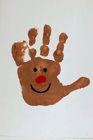handprint christmas card christmas lights decoration