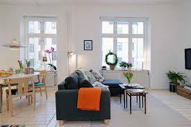 apartment design in small loft area and bright interior living in