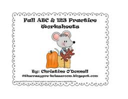 fall abc and 123 practice worksheets common core worksheets