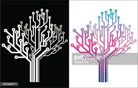electronic tree icon vector getty images