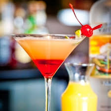 pineapple upside down cake martini 3 ingredients grenadine