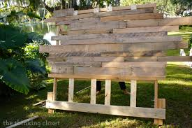 Build A Toy Box Out Of Pallets by How To Build A Wood Pallet Headboard U2014 The Thinking Closet