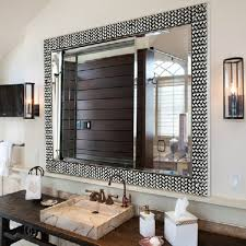 amazing bathroom ideas stylish mirror frame ideas with marble sink and copper faucets for
