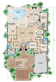 mediterranean house plans with pool mediterranean house plans with courtyard pool 5000 sq ft