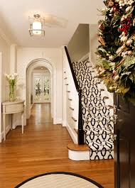 stair runner carpet staircase traditional with black and white