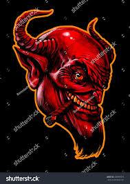 devil spirit halloween devil head cigar demon satan halloween stock illustration