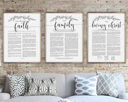 framed family proclamation family proclamation etsy